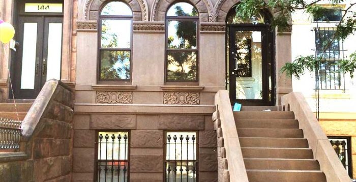 Brownstone facade renovation in Brooklyn Manhattan