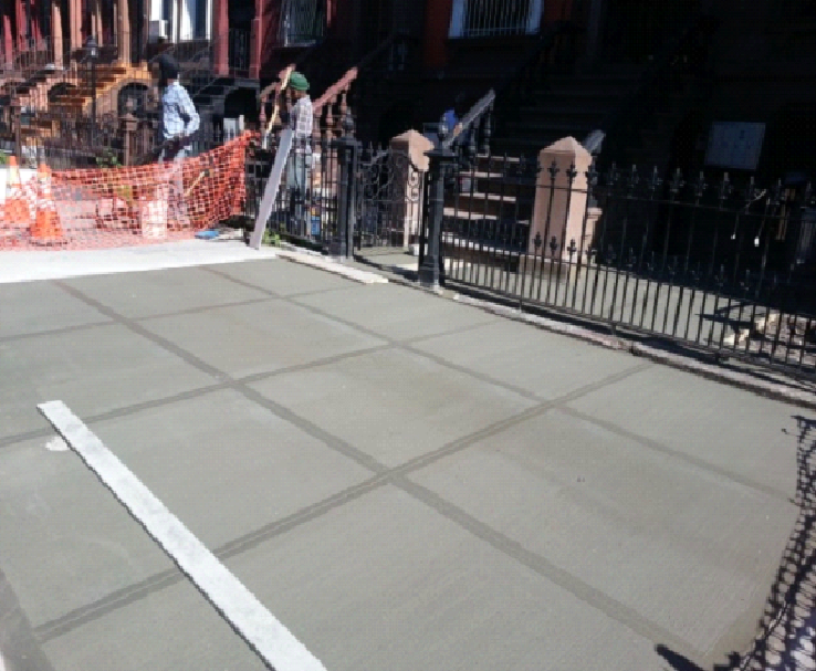 cement work at Brooklyn